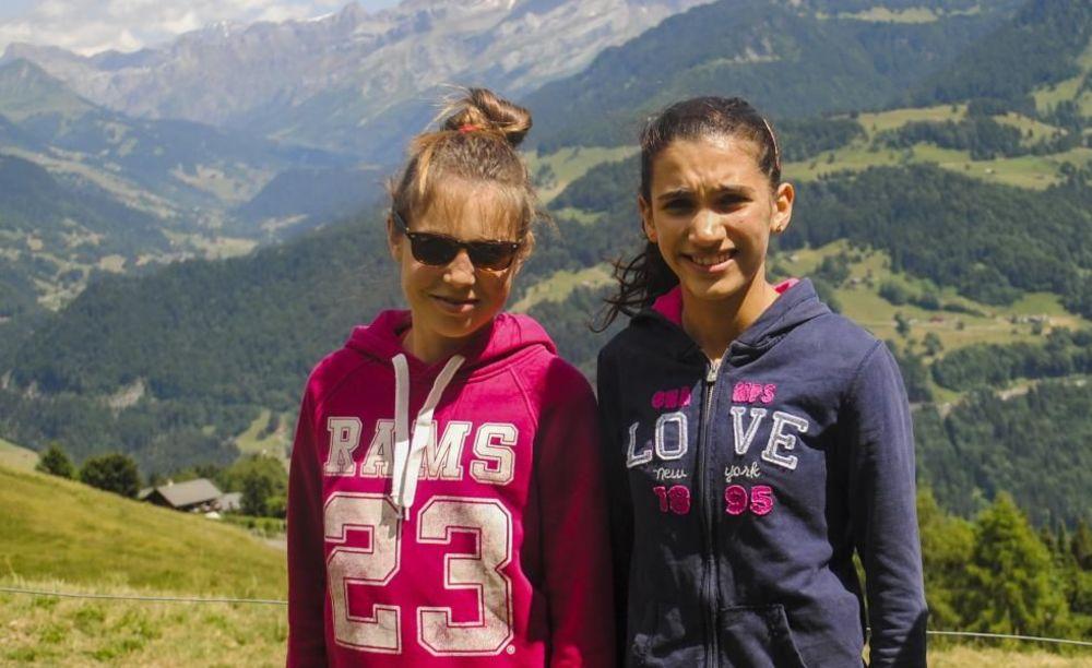 студенты на каникулах в Швейцарии