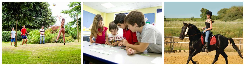коллаж дети в детких лагерях в англии