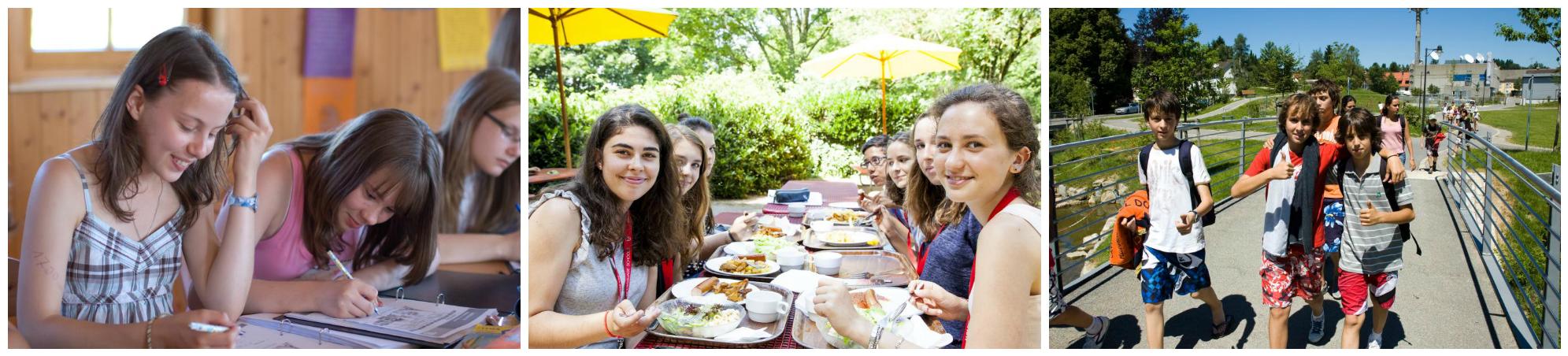 коллаж дети на каникулах в германии