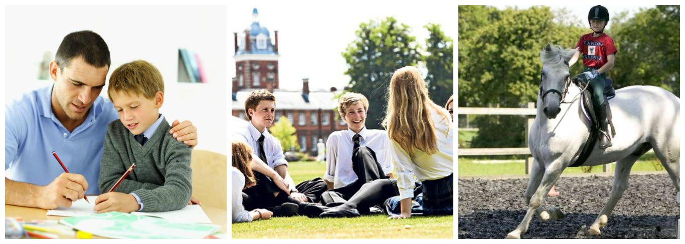 колаж про програми навчання в Англії