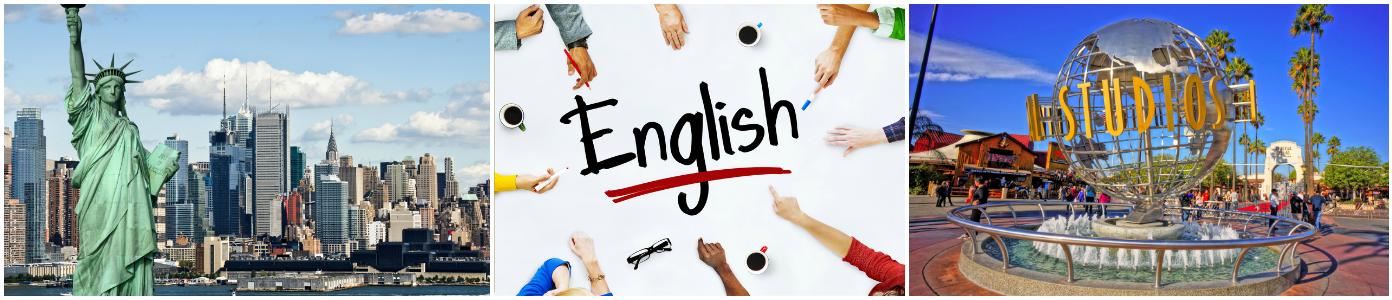 коллаж курсы английского языка для детей в сша
