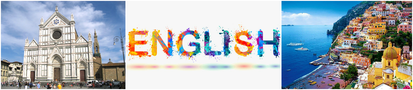 коллаж изучение английского языка для детей в италии