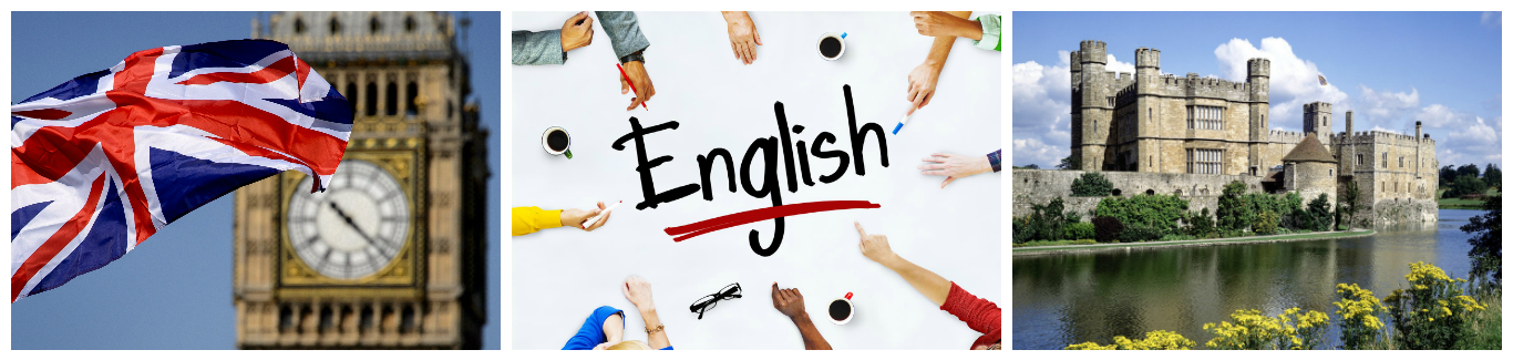 коллаж об изучении английского языка для детей в великобритании