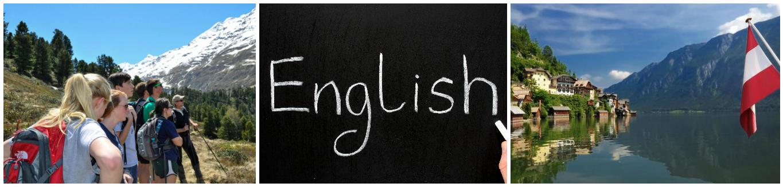 коллаж об изучении английского языка в Австрии для детей