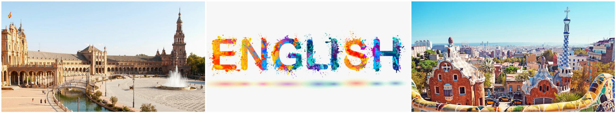 коллаж курсы английского языка для детей в Испании