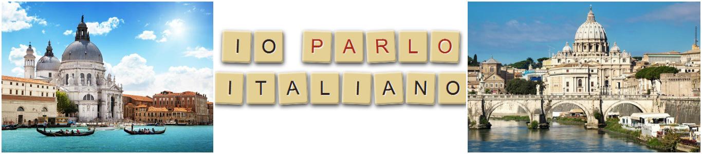 коллаж курсы итальянского языка для детей в Италии