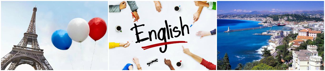 коллаж курсы английского языка для детей во Франции