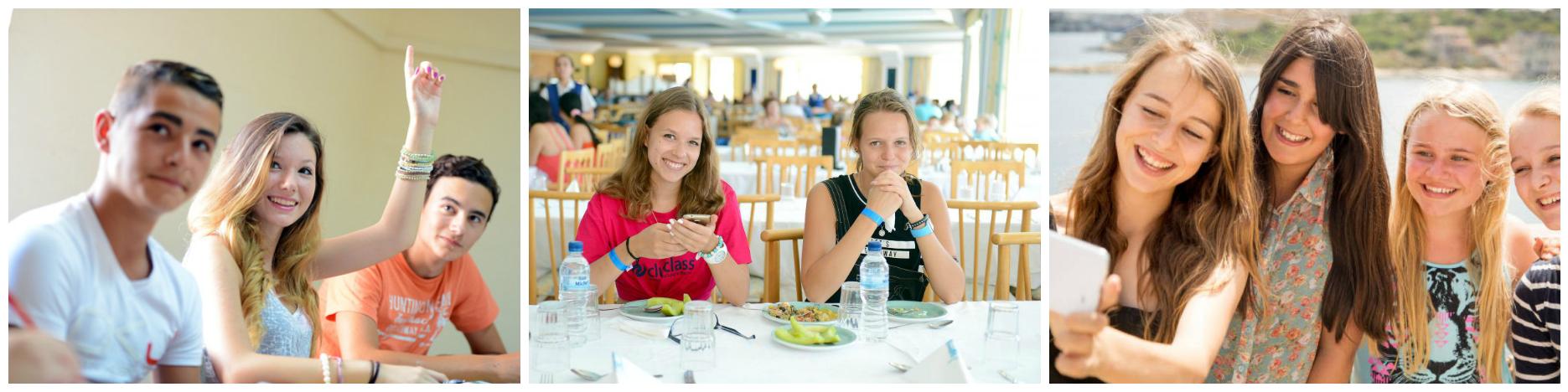 коллаж дети в языковых лагерях на Мальте