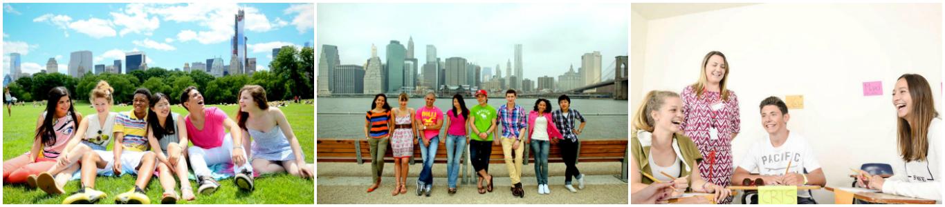 коллаж дети на каникулах в США