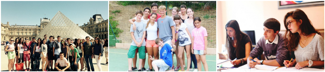 коллаж дети на каникулах во франции