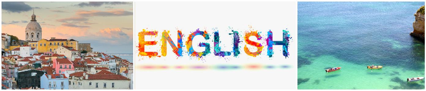 коллаж изучение английского языка для детей в Португалии