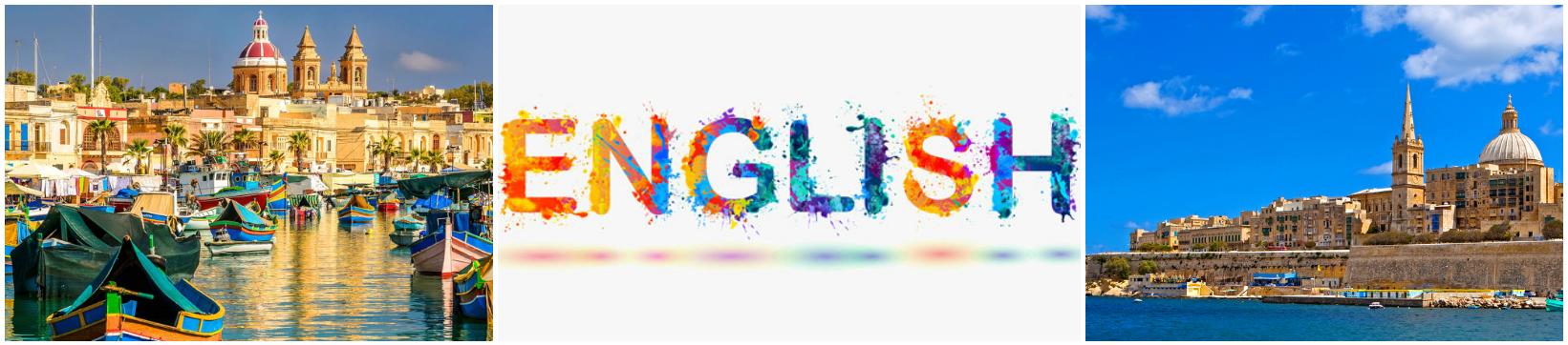 коллаж о курсах английского языка для детей на Мальте