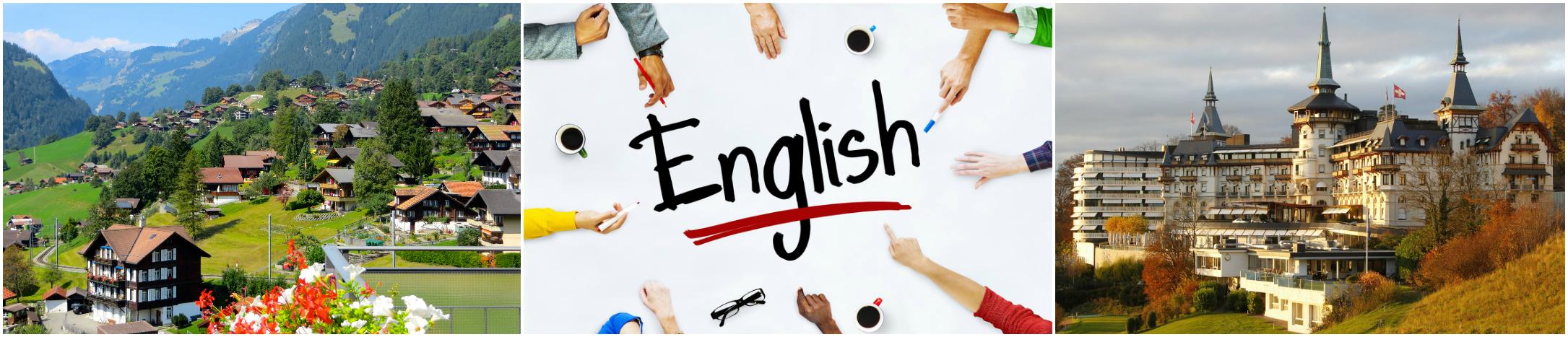 коллаж изучение английского языка для детей в Швейцарии