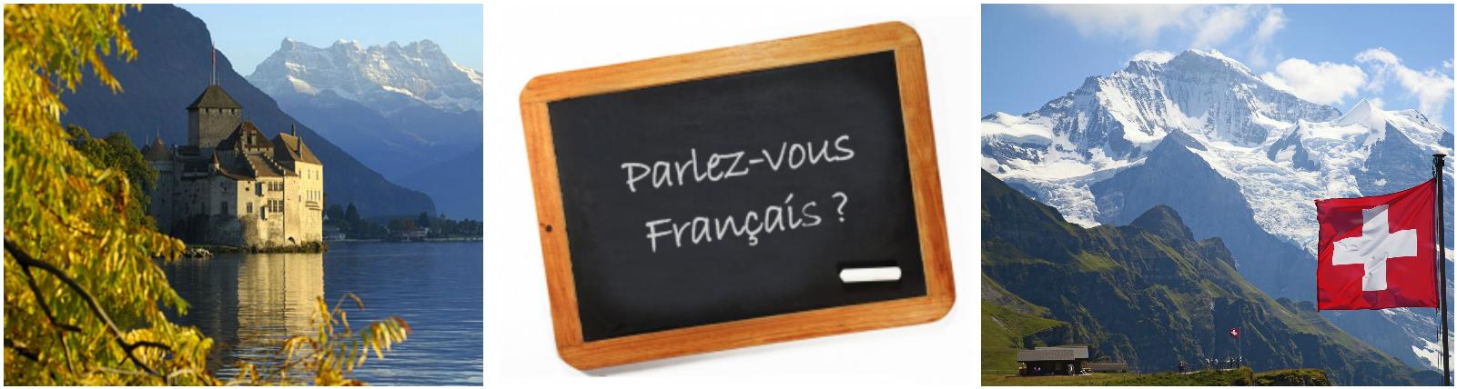 коллаж изучение французского языка для детей в Швейцарии