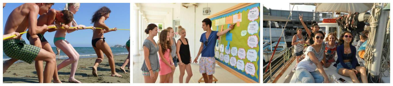 коллаж детни в летнем лагере на Кипре