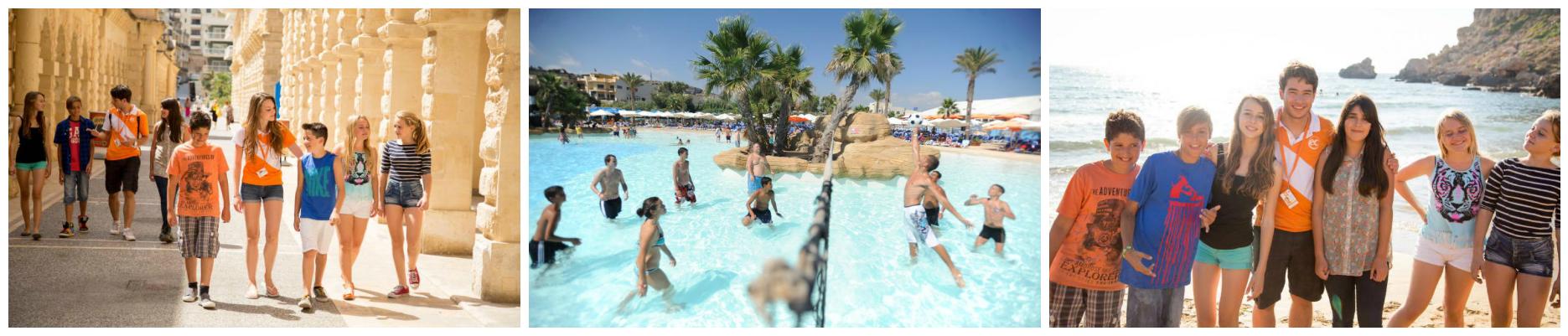 коллаж дети в летних лагерях на Мальте
