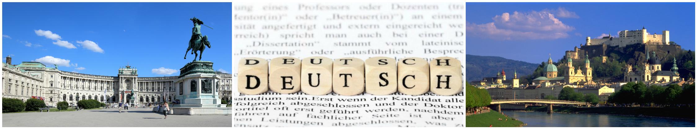 коллаж о курсах немецкого языка для детей в австрии