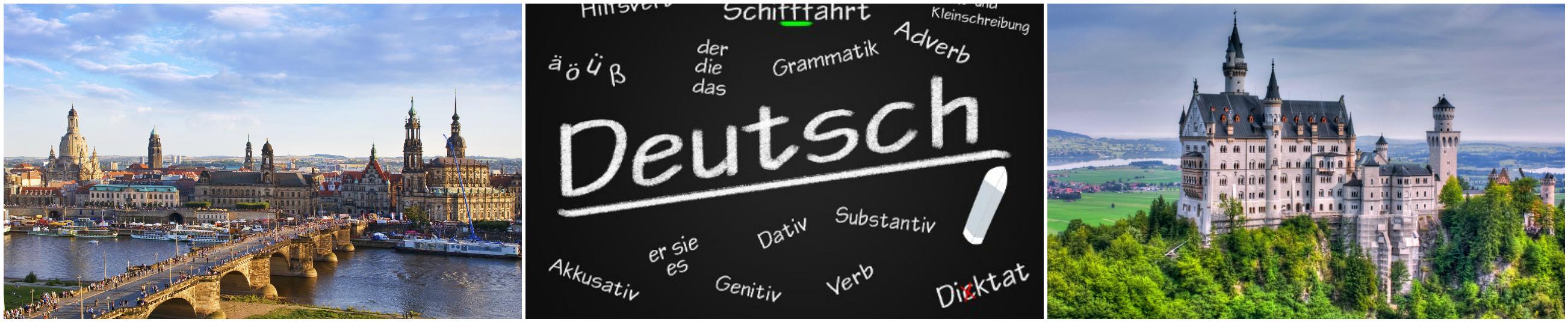 коллаж об изучение немецкого для детей в германии