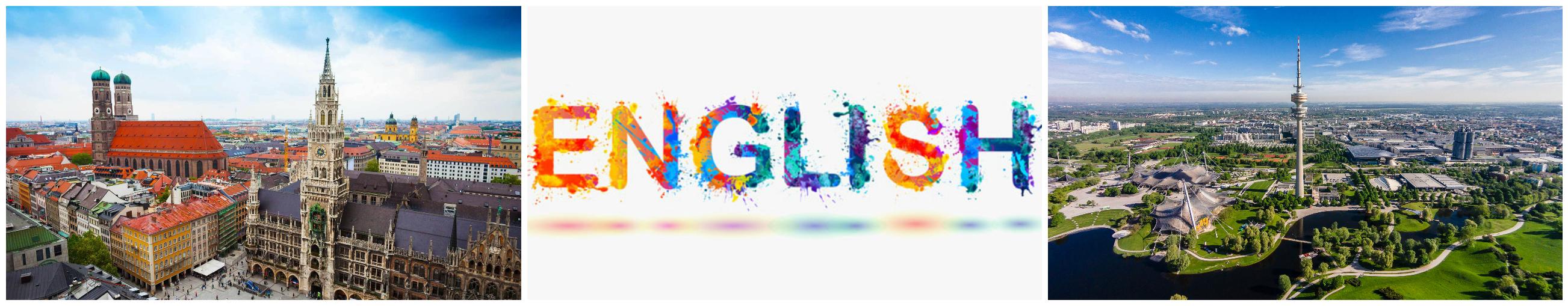 коллаж об изучении английского для детей в Германии