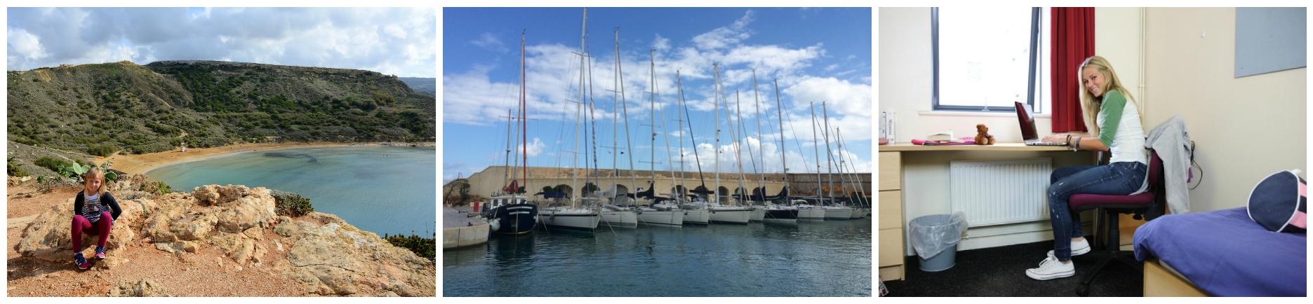 коллаж об осенних каникулах для детей на Мальте