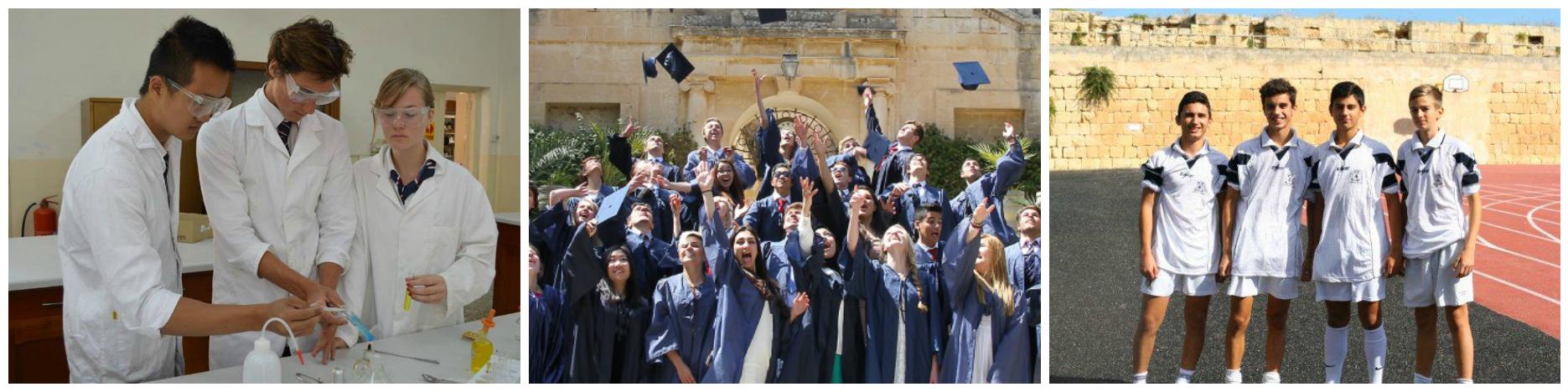 коллаж об обучении в средних школах на Мальте