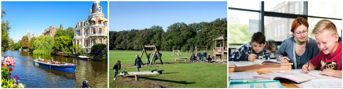 коллаж об обучении в Голландии для детей
