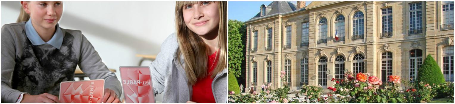 коллаж ученица на весенних канкикулах во Франции