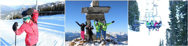коллаж дети в зимних лагерях в Канаде