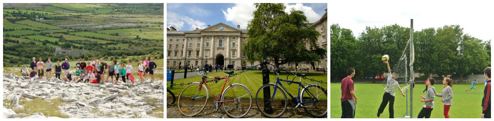 коллаж о летних каникулах в Ирландии для школьников