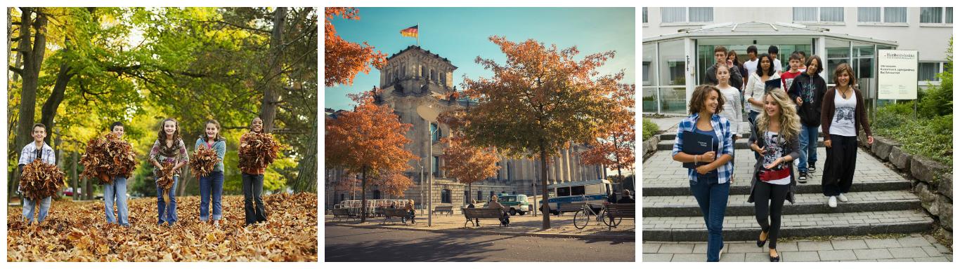коллаж об осенних каникулах в германии для школьников