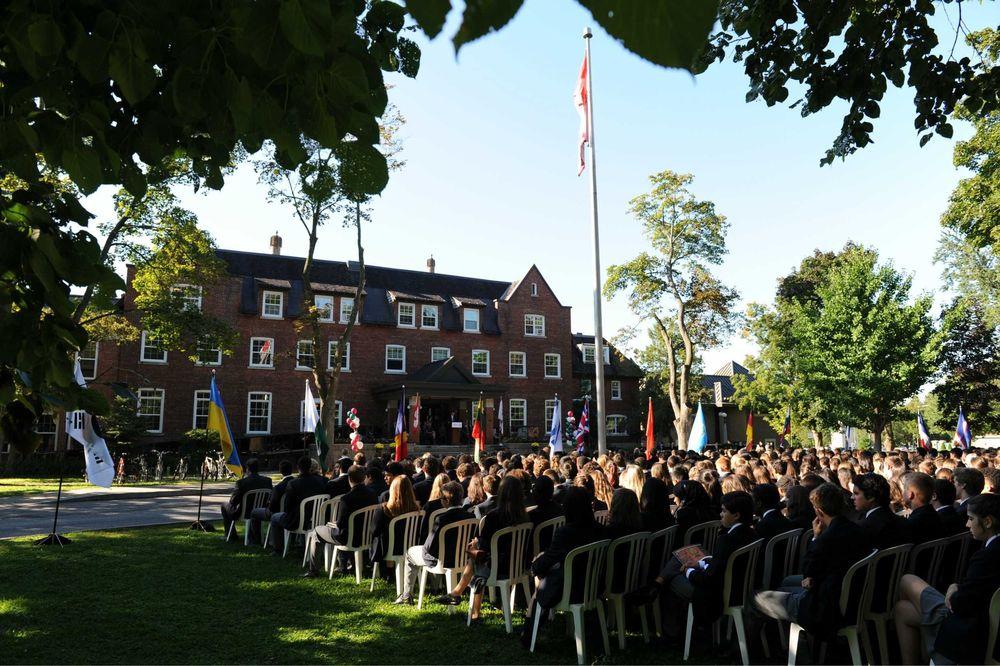 церемония в частной школе в Канаде
