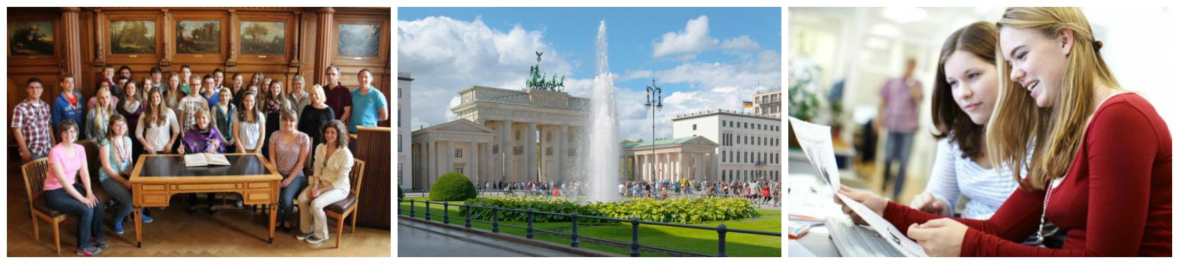 коллаж о весенних каникулах в германии