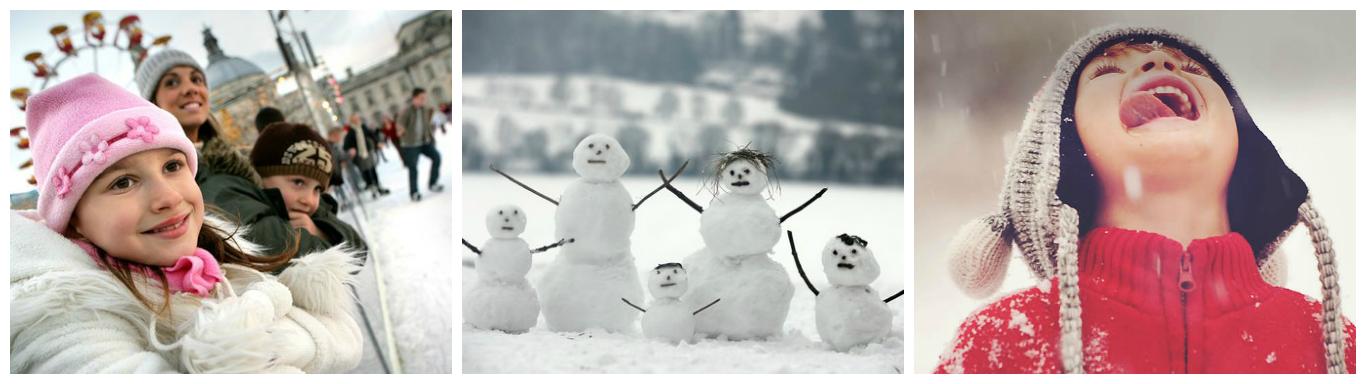 коллаж о зимних каникулах в англии для детей