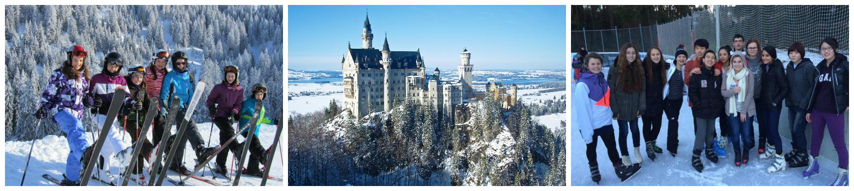 коллаж о зимних каникулах в германии для детей