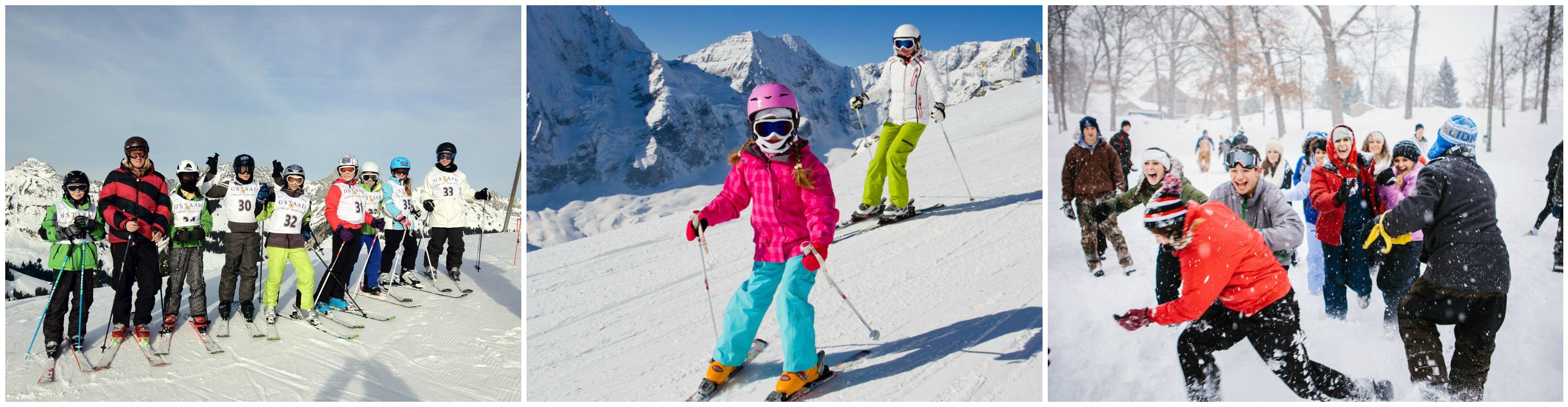 коллаж дети на зимних каникулах за рубежом