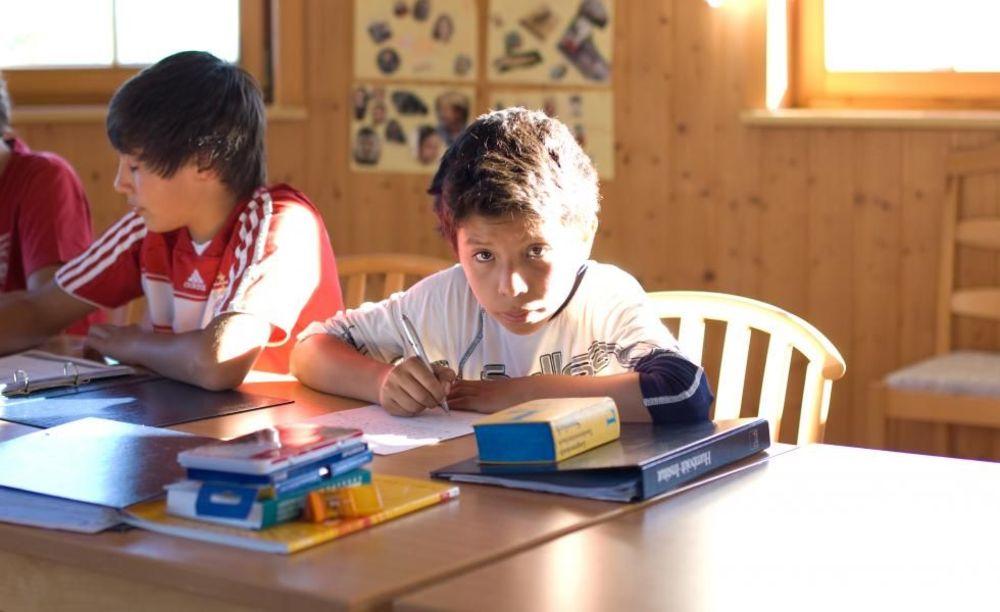 ученик на занятиях в школе Lindenberg, Humboldt – Institut
