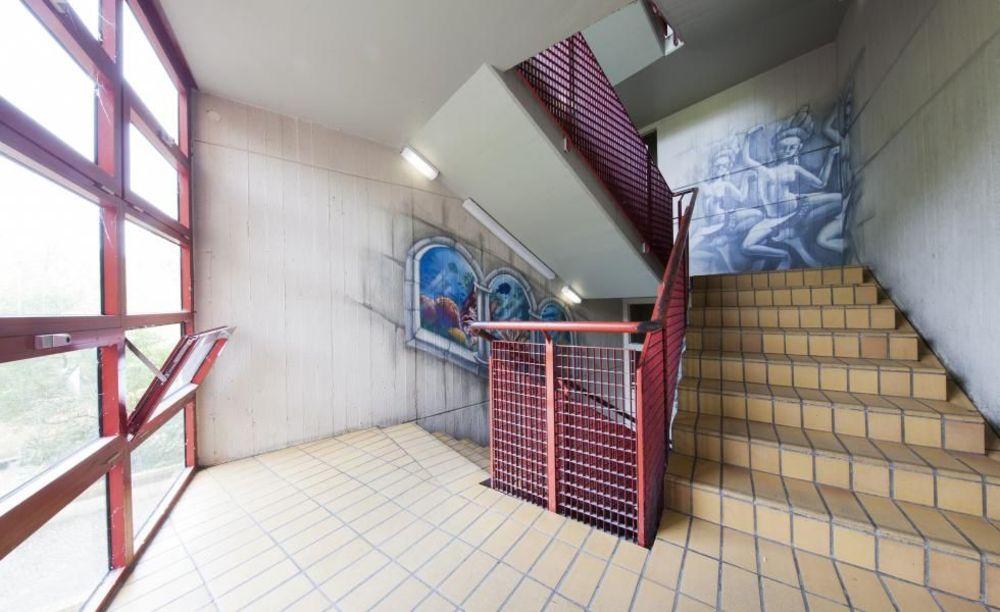 лестница в центре Berlin - Wannsee, летний лагерь Alpadia