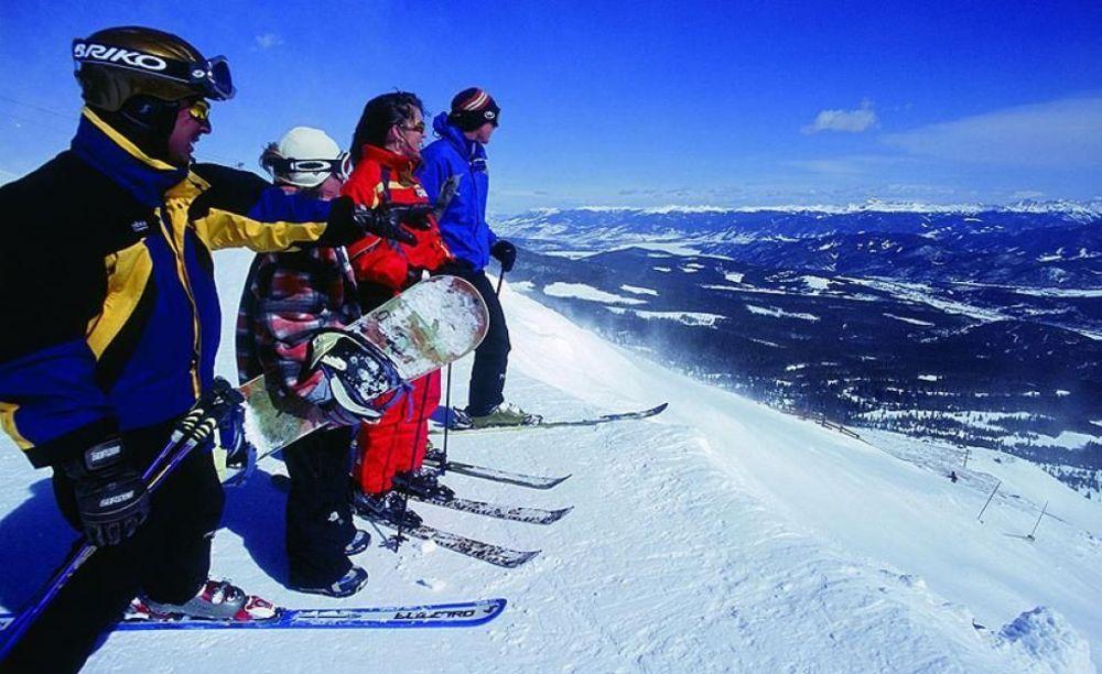 дети на лыжах в лагере Lindenberg, Humboldt – Institut
