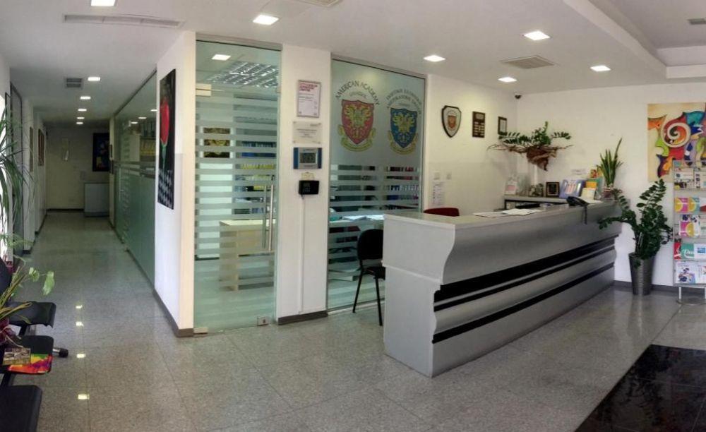 American Academy Limassol рецепция в школе