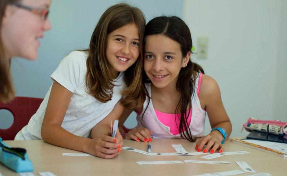 дети на уроке в лагере Bad Schussenried, Humboldt-Institut
