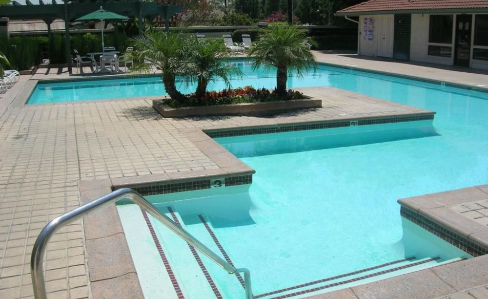 бассейн в доме принимающей семьи в лагере FLS Citrus College