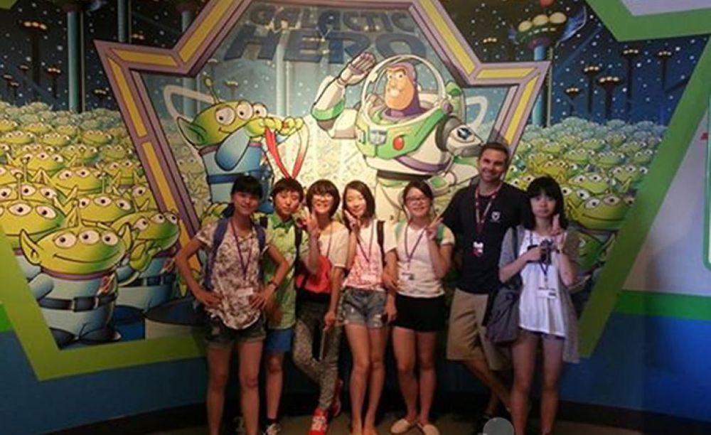 лагерь FLS California State Univeristy студенты на экскурсии