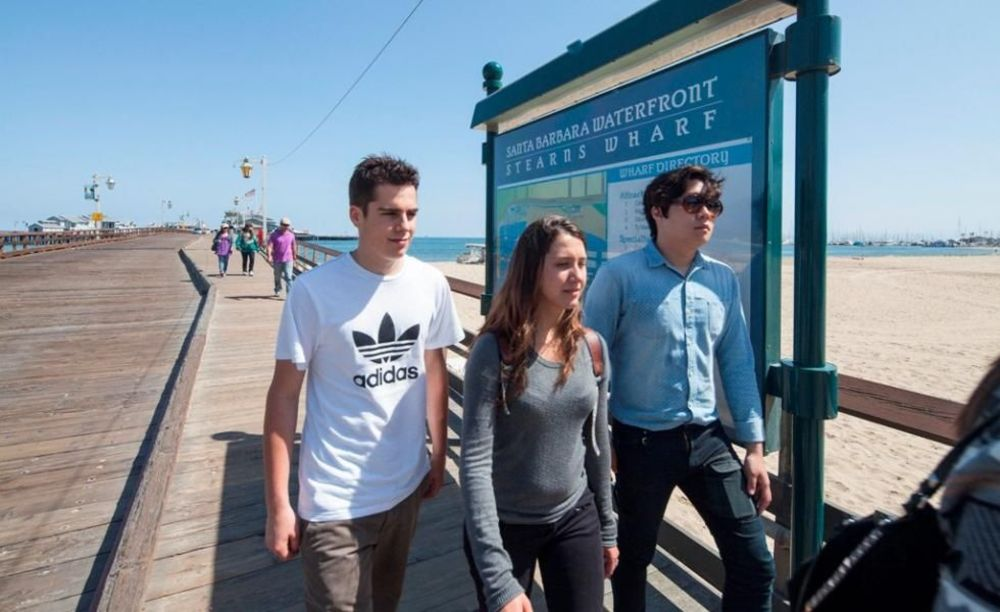 ELC Santa Barbara прогулка по набережной