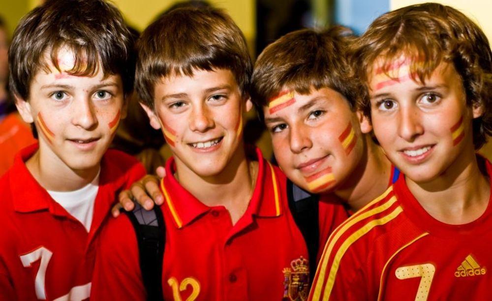 испанские студенты в лагере Lindenberg, Humboldt – Institut