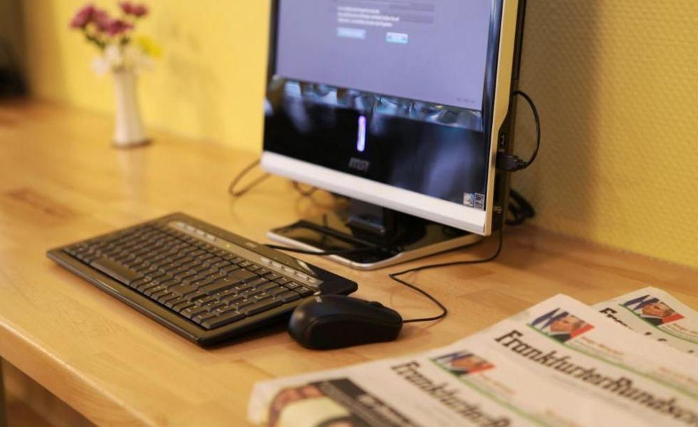 компьютер в резиденции школы DID Frankfurt am Main
