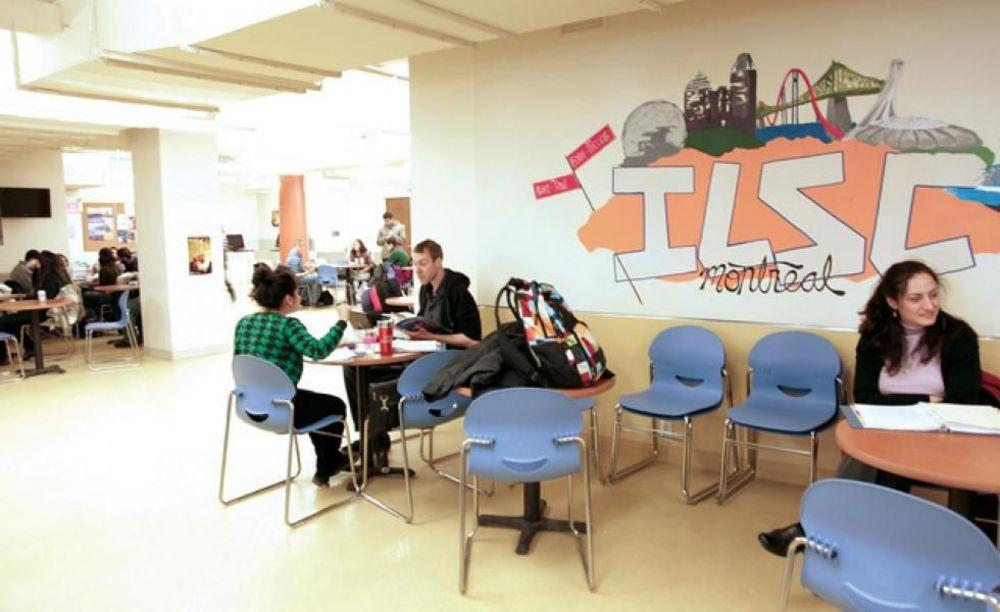 зона отдыха для студентов в лагере ILSC в Монреале