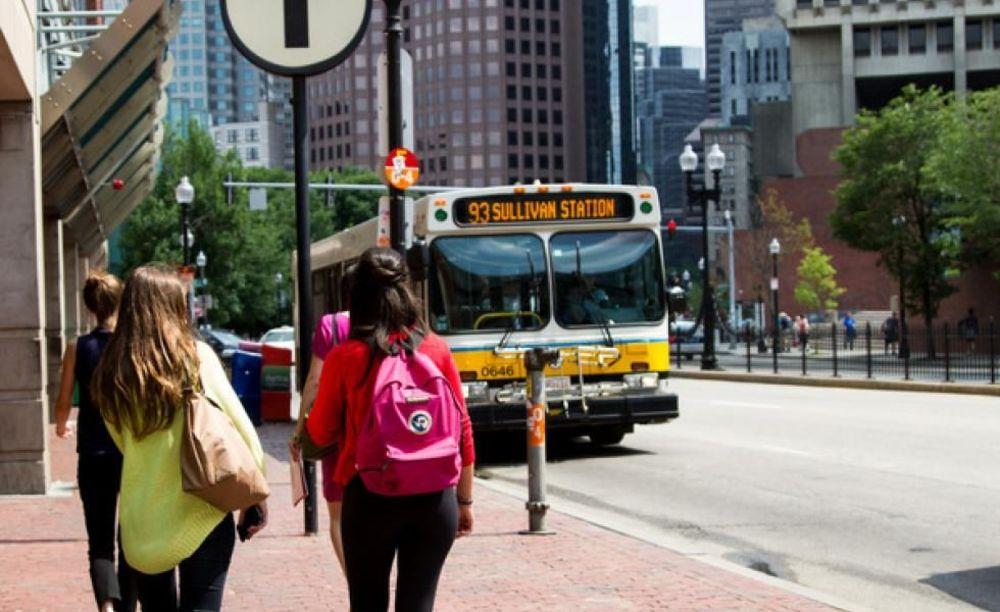 LAL Boston студенты на прогулке