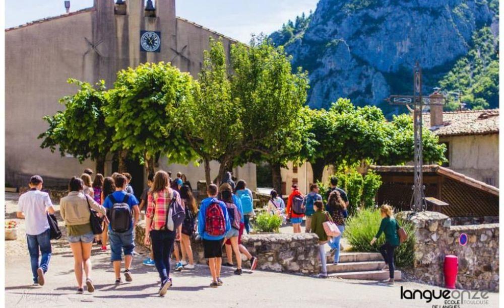 дети на экскурсии Langue Onze Toulouse