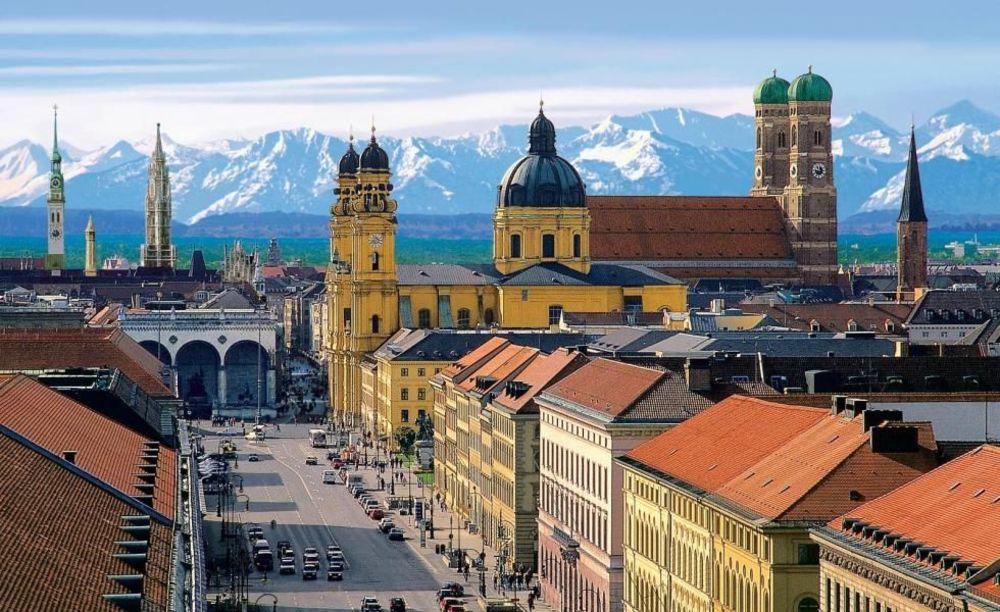 German Language School, панорама Мюнхена