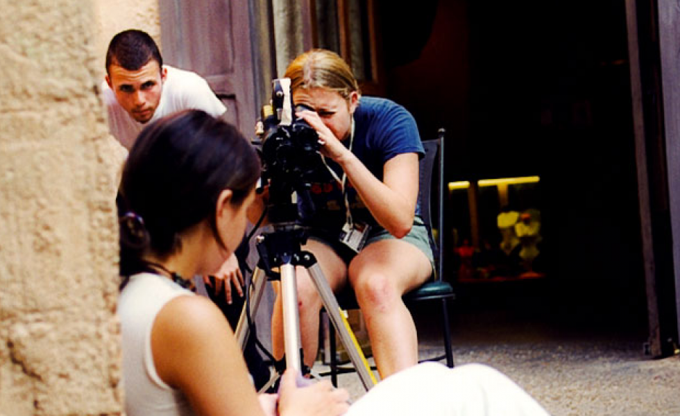 New York Film Academy студенты в процессе съемки
